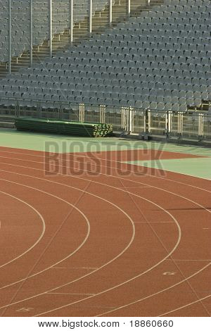 Running Tracks And Empty Seats N A Stadium