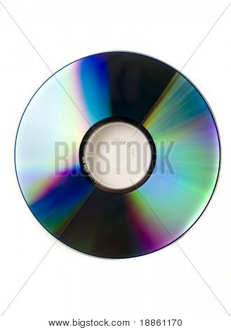 CD surface with brilliant colors isolated on white