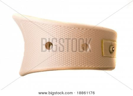 Neck support brace isolated on white