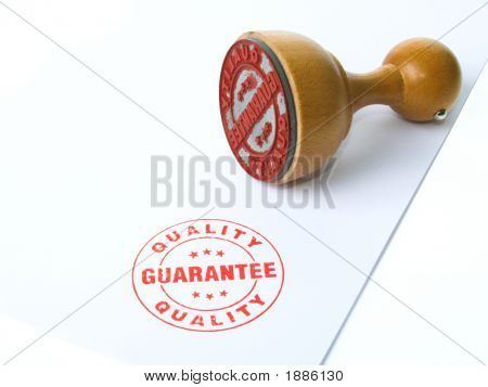 Garantie Tinte Stempel