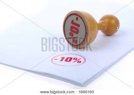 Rabate 10 % Rubber Stamp