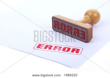 Error Rubber Ink Stamp