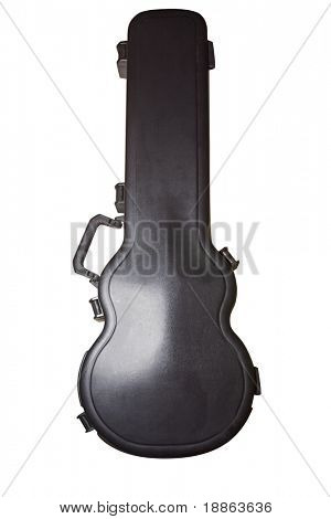 Hard cover guitar case isolated on white with clipping path
