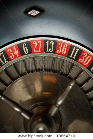 Old Roulette Wheel Detail