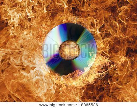 Burning CD ROM
