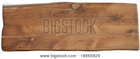 Pear wood Desk isolated on white with clipping path