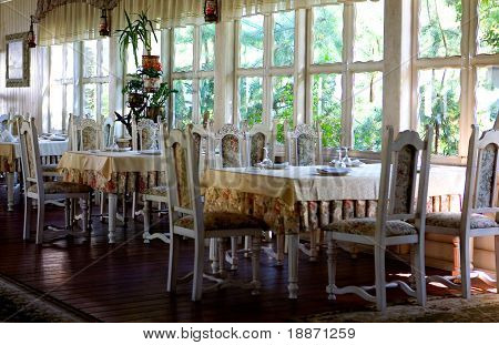 Restaurant ready to reception of visitors