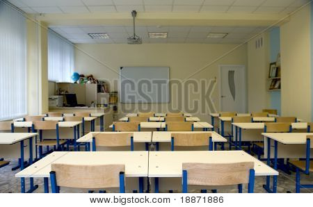 Empty class at school
