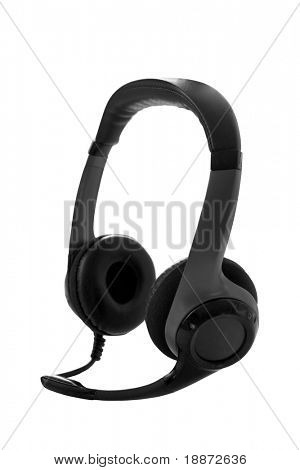 Stereo headphones for listening of qualitative music with microphone