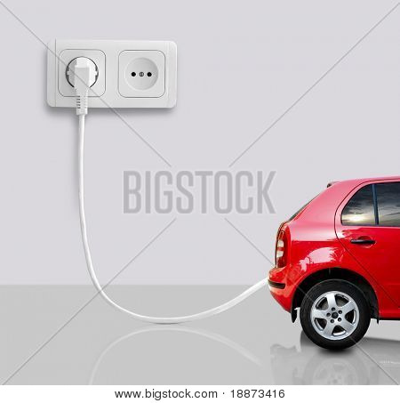 The car on a white background.