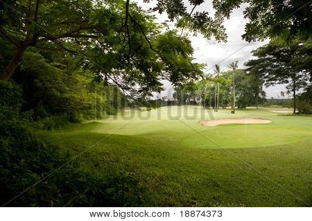 Golf course on island Bali