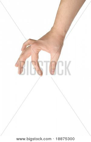 photo of isolated hand holding object