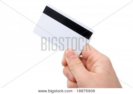 photo of blank magnetic card