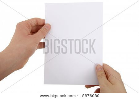 photo of a paper sheet