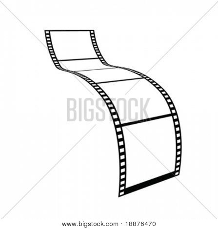 vector file, film shape very easy to edit