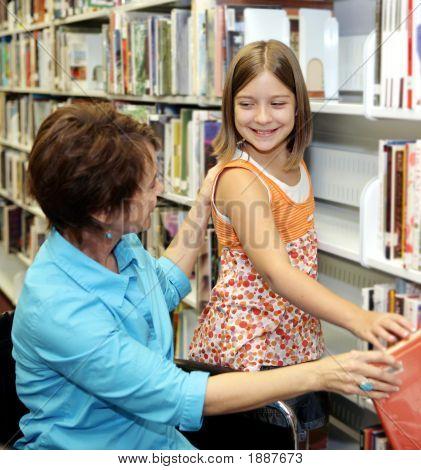 School Library - Choosing Book