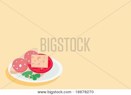 vector image of sandwich