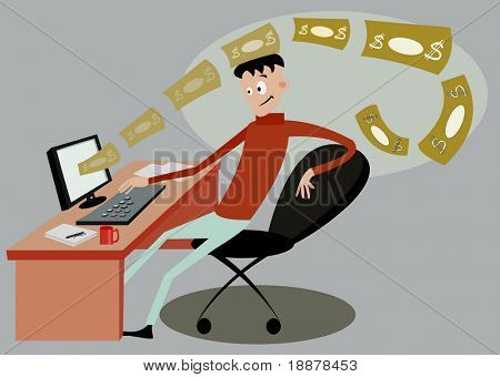 business online. vector image for internet services