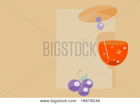 vector image of beverage. illustration may be use like background