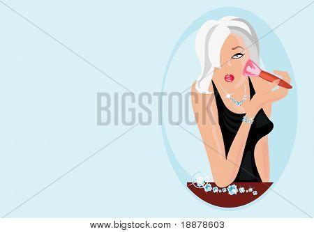 Vector de la imagen de la mujer rubia sexy
