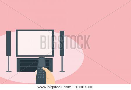 imagem vetorial de TV com uma tela em branco para sua informação