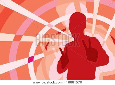 vector image of clubbing teenager