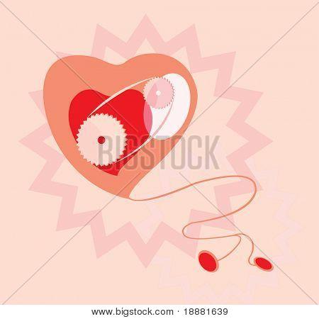 vector image of heart work