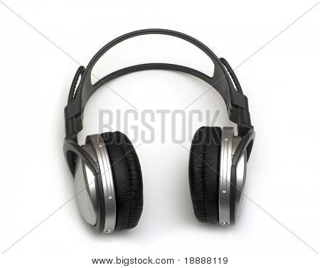 music headphones without wires on white backgrounds