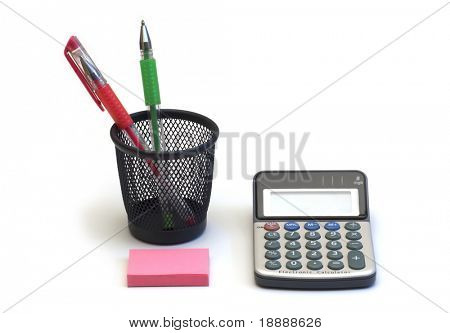 set clerical on white background
