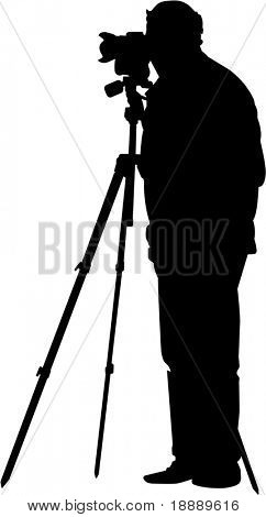 vector image of photographer on white background
