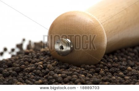 black pepper on white background 2