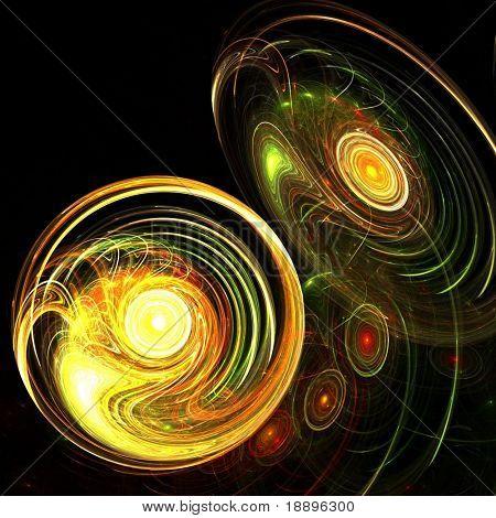 Revolving Golden Discs