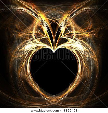 Fractal rendering of golden heart