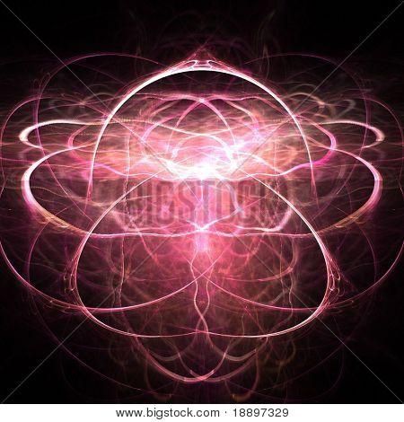 Fractal abstract of symmetrical spiritual light