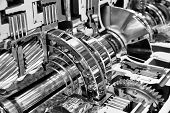 Engine Interior Engineering Industry Concept poster
