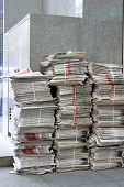 Newspapers at newsstand