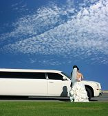 image of evening gown  - Wedding and limousine - JPG