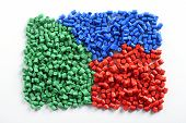 Colorful Collection Of Molded Plastic Pellets poster