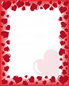 image of valentines day card  - Valentines day background frame with heart shaped ornament - JPG