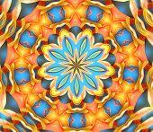 pic of woodstock  - digitally created mandala very suitable as a background - JPG