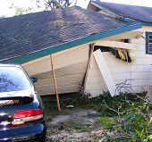 pic of katrina  - partial collapse of a home damaged by hurricane katrina - JPG