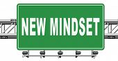 change your mindset, a new way of thinking, think different. Change your ways., 3D, illustration poster