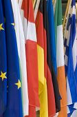 foto of international trade  - flags background - JPG