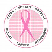 stock photo of breast-cancer  - Pink ribbon design for Breast Cancer Awareness - JPG