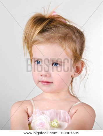 Portrait Of The Capricious Little Girl