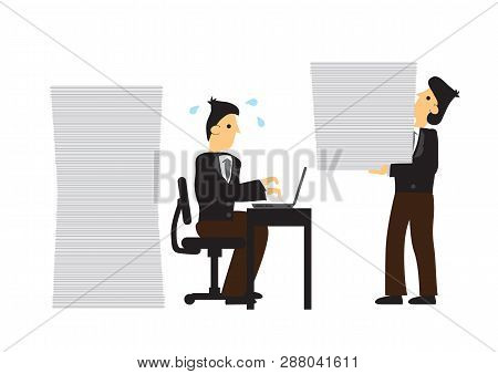 Stress Businessmen Working Concept Of