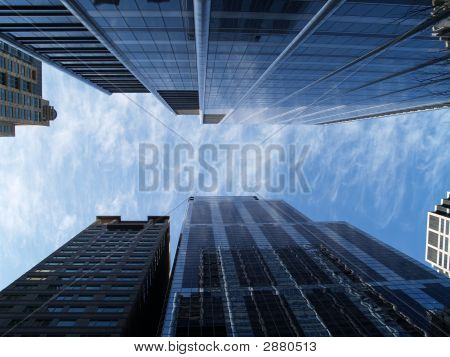 Chicago Buildings And Blue Sky