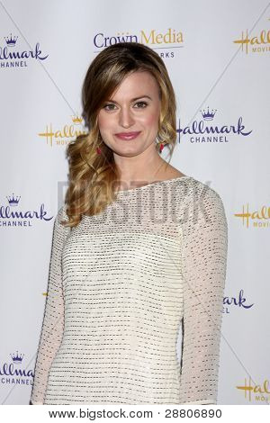 LOS ANGELES - JAN 14:  Brooke D'Orsay arrives at  the Hallmark Channel TCA Party Winter 2012 at Tournament of Roses House on January 14, 2012 in Pasadena, CA