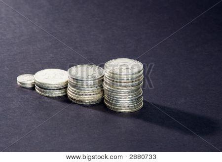 Silver Coin Columns