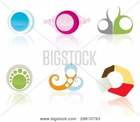 Set of vector logos